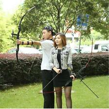 """53"""" 30&40lbs Straight Bow Takedown Longbow Archery Target Shooting Hunting Bow"""