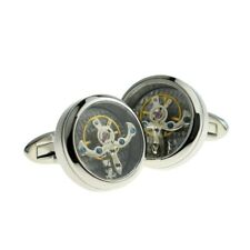 Real moving Cogs Cufflinks Steam Punk X2NC005