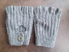 MULBERRY Womens grey fingerless gloves alpaca wool One Size VGC