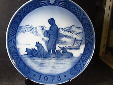 Royal Copenhagen 1978 Greenland Scenery Husky Annual Collector Plate