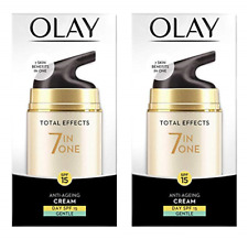 Olay Total Effects 7 in 1 Anti Aging Day Cream, Gentle, SPF 15, 1.7 oz (2 Pack)