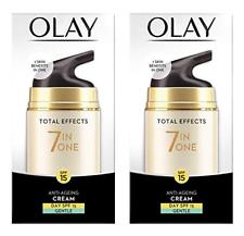 Olay Total Effects 7 In 1 против старения дневной крем, нежный, Spf 15, 1.7 унций (примерно 48.19 г.) (2 упаковка)