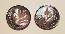 2 Silver Medals .999 Lincoln Mint JOHN F. KENNEDY Series Rocking Chair Culture