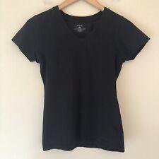 Patagonia Womens Size XS Base Layer V Neck T Shirt Tee Black Organic Cotton 816