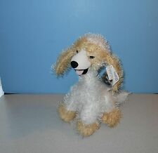 """New Carlton Cards 14"""" Twisted Whiskers Caramel Cute Posable """"Dancer"""" Plush Dog"""
