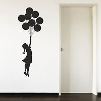 Banksy Escapism Balloon Girl Hallway Bedroom Vinyl Wall Art Sticker Decal