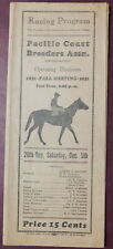 1931 California Handicap Program - Jim Dandy - Tanforan