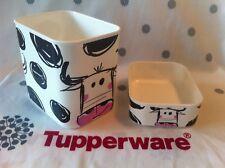 """Lot de 2 boîtes Optimum décor """"Vaches"""" Tupperware NEUVES - Une affaire ici !!!"""