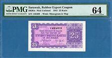 Sarawak Malaysia, Rubber Export Coupon, 25 Katis, 1941, UNC-PMG64, P-Unlisted