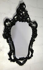 Espejo de pared Negro Barroco Antiguo moderno Shabby oval X 50 76 ALTO BRILLO