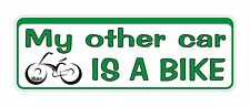 Bumper Sticker My Other Car Is A Bike funny Decal Graphic Vinyl Label