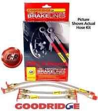 Scirocco 1+2 Goodridge Braided Brake Hose 4 Line Kit:G1 - SVW0400-4P 4 Lines VW