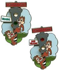 Disney Chip & Dale Trade City USA Stoplight Pin