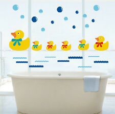 Rubber Duck Family & Bubbles Wall Stickers Bathroom Tile Removable Decor Nursery