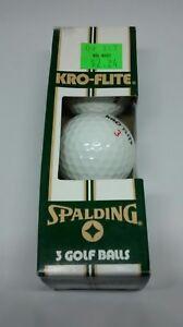 VINTAGE SPALDING KRO-FLITE 3 PACKAGE of 3 Pack Golf Balls USA made