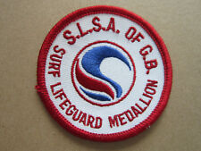 SLSA Surf Life Saving Lifeguard Medallion Swimming Sport Cloth Patch Badge (L2K)