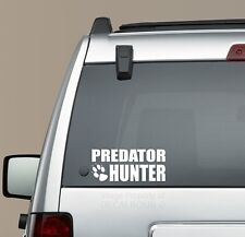 Predator Hunter Decal Sticker Coyote Bear Bobcat Hunt Diesel Bow Gun 8.5 x 3.75