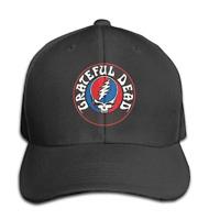 Grateful Dead Skull Roses Adjustable Black Baseball Cap Hats