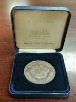 1987 Royal Maundy Festival of Flowers Ely Cathedral Nickel Silver Medal