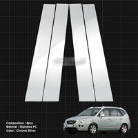 Carbon Black B+C Pillar Post Decal Sticker Molding Cover 8P For KIA 2014-18 Soul