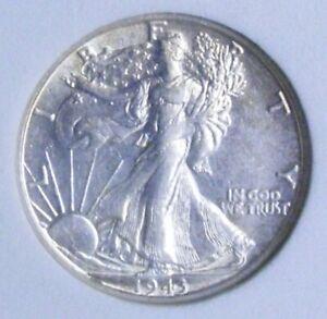 1943 S BU GEM LIBERTY WALKING SILVER HALF UNC MS+++ U.S. MINT RARE # 05026
