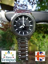 Casio GA-2100 with Stainless Steel Bezel & Bracelet Kit Boxed with Extras