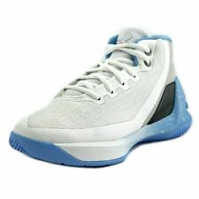 NEW Little Kids Under Armour UA Curry 3 Basketball Shoes White/Opal Blue/Steel