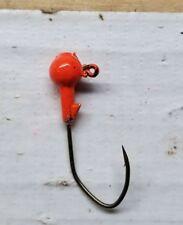 100ct. 1/8oz Blaze Orange jig head with #1 bronze Eagle Claw Lil' Nasty hook