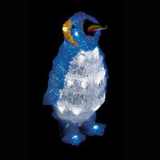 LED 32cm BATTERIA illuminare Acrilico Decorazione Natalizia Indoor-Outdoor-Pinguino