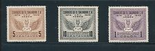 """El Salvador (3) """"UPU AIRMAIL (1949)"""" COMPLETE; MLH **BEAUTIFUL CONDITION**"""
