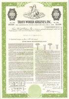 Trans World Airlines > $1,000 TWA bond certificate stock share