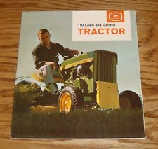 Original 1964 John Deere 110 Lawn and Garden Tractor Sales Brochure 64 Mower