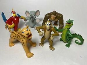 Rain Forest Cafe 2000 Wild Bunch 6 Figures Poseable Animal Friends Ornaments
