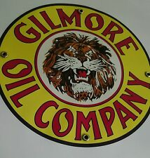 Gilmore Lion Gas Oil gasoline sign round