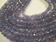 """14.""""  Inch Strand Faceted Genuin Tanzanite Beads 3.5 mm 52 Ct AT"""
