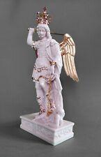Statua San Michele Arcangelo cm27-45 , in resina , corona e spada