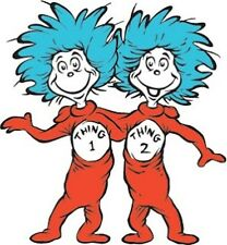"""Thing 1 and Thing 2 Iron On Transfer 5"""" x 5.5"""" for LIGHT Colored Fabric"""