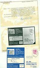 STORIA POSTALE Italia Repubblica 1974 Falso di Milano 40L - Certificato Savarese