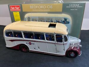 Sun Star 1/24 Scale 1949 Bedford OB Double Vista Coach - NIB - 1 of 1500