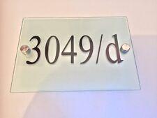Cartel Placa Puerta Casa Números y Letras de Cristal Efecto Acrílico