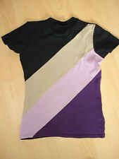 1 Shirt/Top,  Gr. S ,H&M Impuls,Kurzarm, Rundhals-Ausschnitt ,mehrfarbig,Nylon