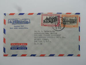 Discount Stamps : COSTA RICA 1952 AIR MAIL COVER USED TO NY USA