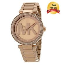 NEW MICHAEL KORS MK5865 LADIES ROSE GOLD DIAL PARKER WOMENS WATCH UK GIFT