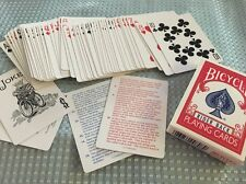 Estate Bicycle Rider Back Playing Cards Made In Cincinnati Ohio USA*