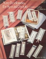 More Bookmarks Cross Stitch Pattern Leaflet #114 Waters Alphabets Dad Friend