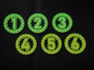 Objective Markers (6) 40mm - Compatible with Warhammer 40k Kill Team LASERFORGE
