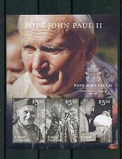 SAINT Vincent & Grenadine 2015 MNH Papa Giovanni Paolo II 10 ° MEMORIAL ANN 3V M / S