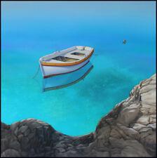 Boat paintings GENTLE BREEZE Coastal art beach house decor seascape paintings