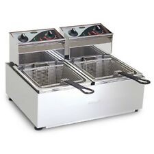 Roband Commercial Double 5L Pan 2 Basket Counter Top Deep Fryer - Brand New F25