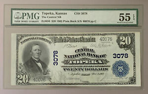 1902 $20 Dollar Bill (PMG 55)